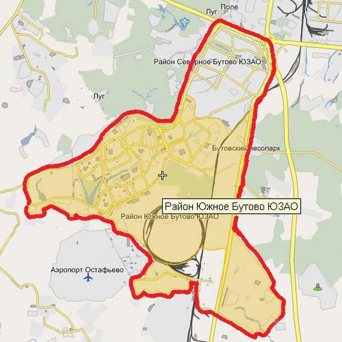 карта Бутово